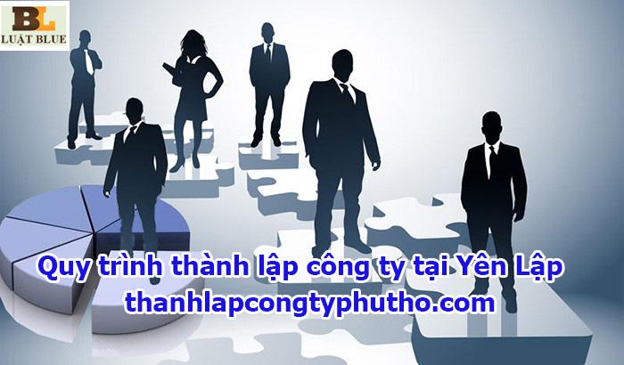 Quy trình thành lập công ty tại Yên Lập