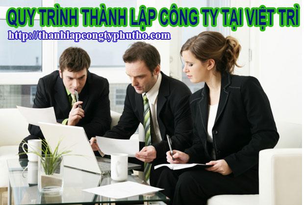 Quy trình thành lập công ty tại Việt Trì