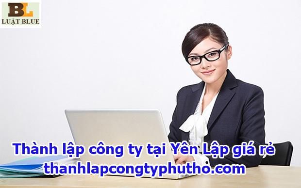 Thành lập công ty tại Yên Lập giá rẻ